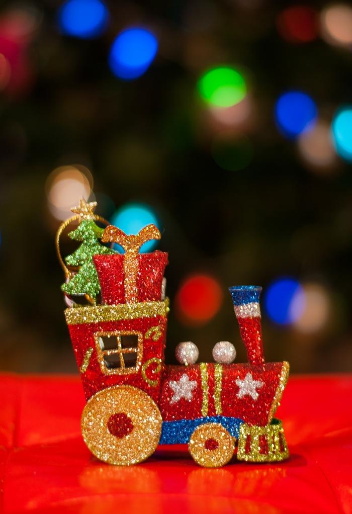 Tren hacia navidad