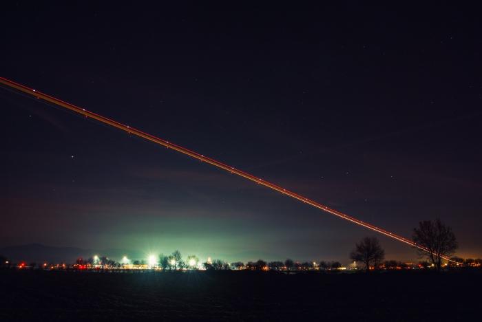 Estela de aviones II